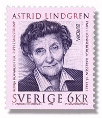 Astrid on a stamp